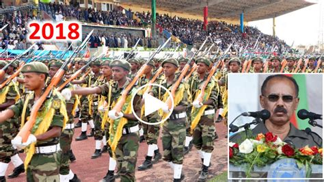 Video: 2018 Eritrean Independence Speech, Military Parade