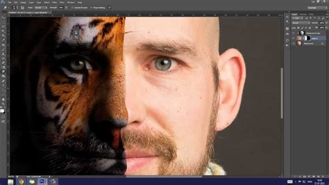 HD   Photoshop Tutorial - Tiger Facemorph - YouTube