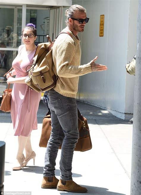 David Beckham shows off his man bun in NYC | Daily Mail Online