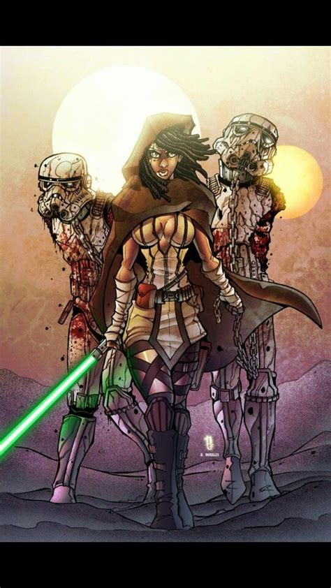 TWD/SW mashup!!!Jedi Michonne and her undead troopers
