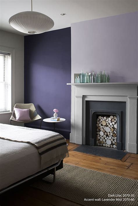 Perfectly Purple Bedroom! Wall Color: Dark Lilac - Accent