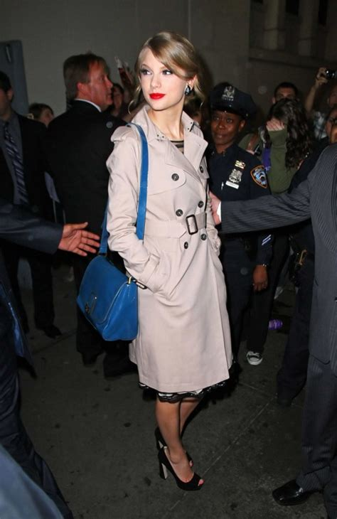 Taylor Swift - The 40 Chicest Women in Trench Coats of All