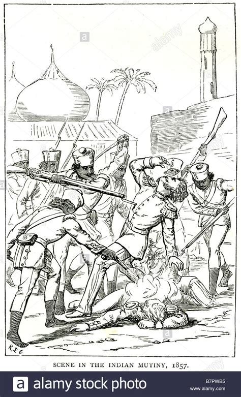 scene in the indian mutiny 1857 The Indian Rebellion of